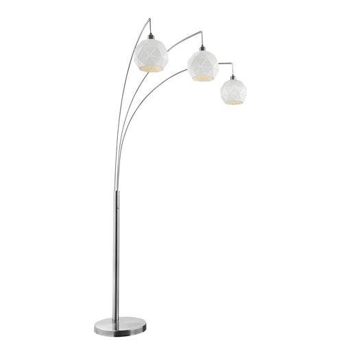 Pandora White Three-Light Arch Floor Lamp