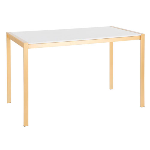 Fuji Gold and White Marble 50-Inch Dining Table
