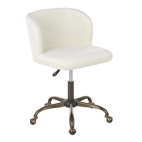 Luna Antique and Cream Adjustable Swivel office Chair