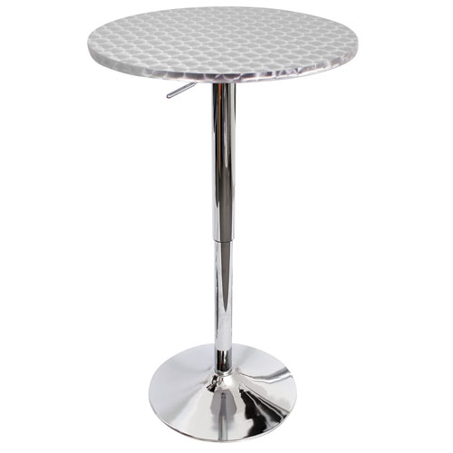 Bistro Silver Swirl Bar Table