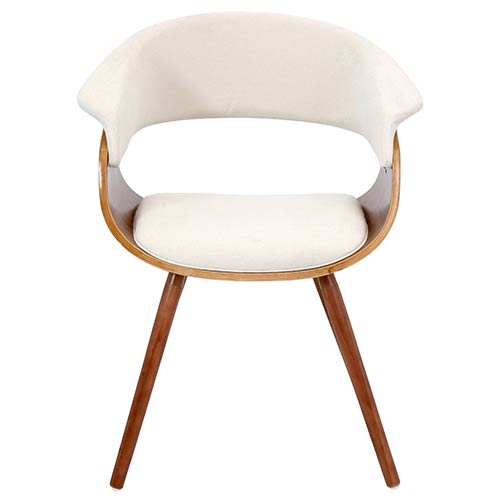 LumiSource Mod Walnut and Black Vintage Chair