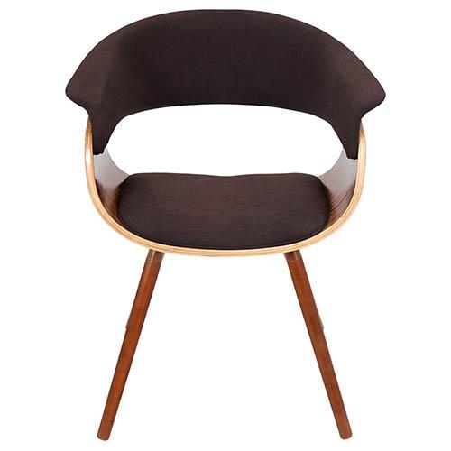 LumiSource Mod Walnut and Espresso Vintage Chair
