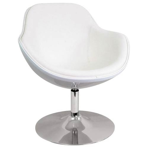 LumiSource Saddlebrook White Lounger