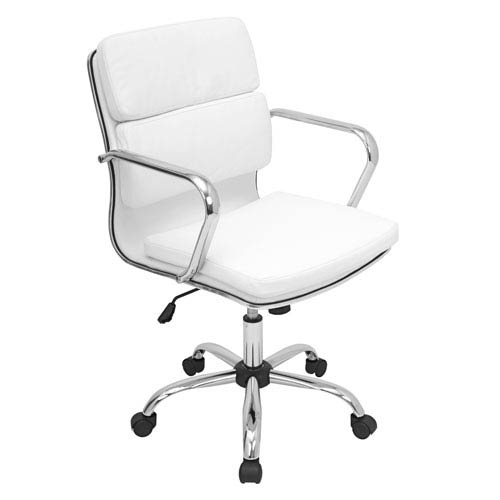 Bachelor White Office Chair