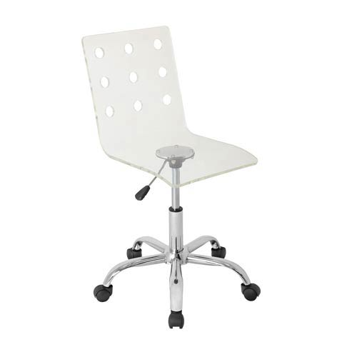 LumiSource Swiss Clear Acrylic Office Chair