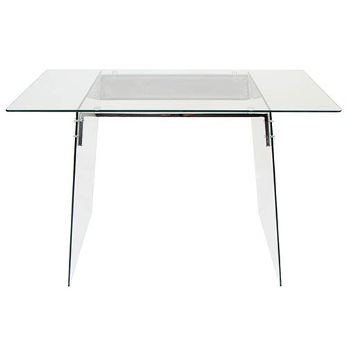 LumiSource Glacier Clear and Black Office Desk