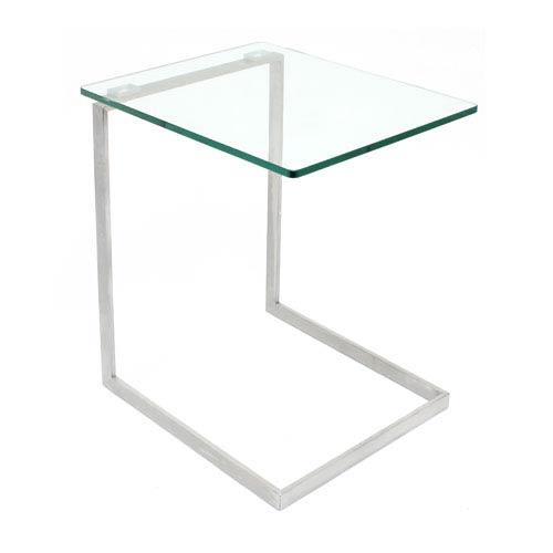 Lumisource Zenn Glass Silver End Table Tb Zenn Gls Bellacor
