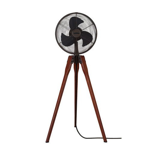 Arden Oil Rubbed Bronze Oscillating Floor Fan with Black Blades
