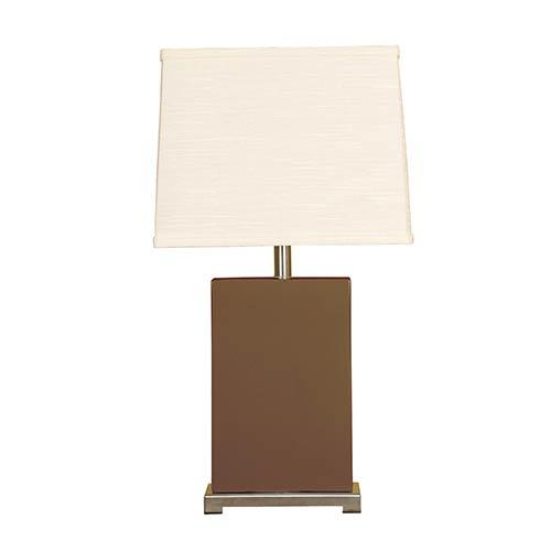 Espresso One-Light Ceramic Block Table Lamp