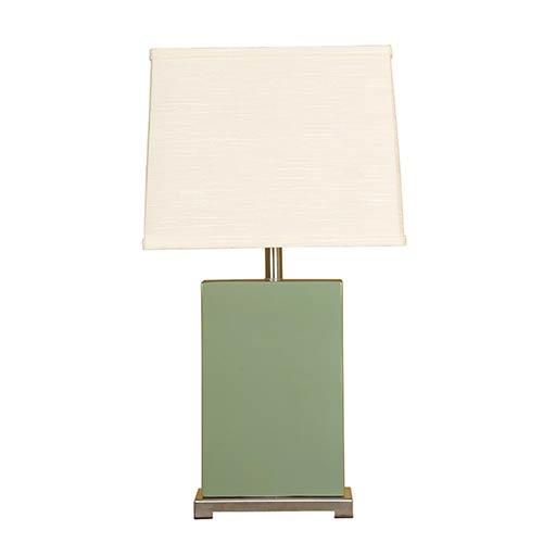 Mario Industries Moss One-Light Ceramic Block Table Lamp