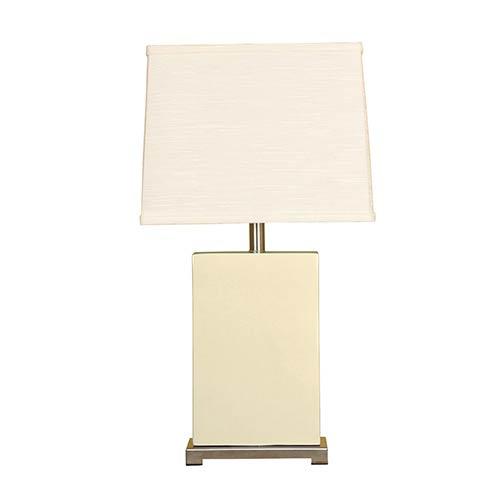 Vanilla One-Light Ceramic Block Table Lamp