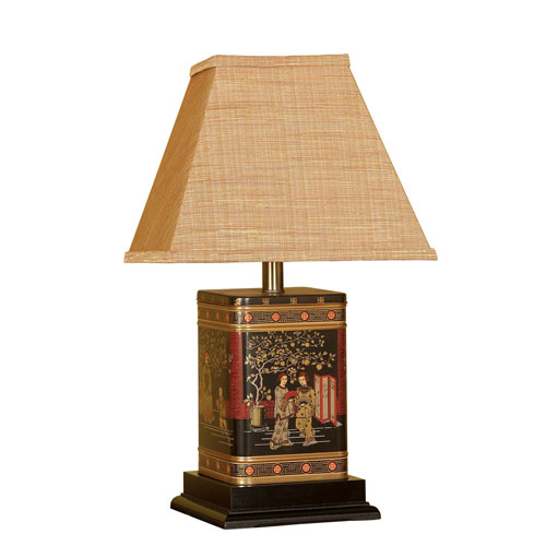 Oriental One-Light Canister Table Lamp