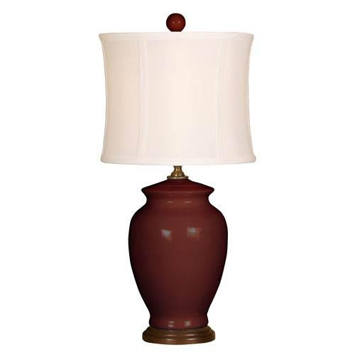 Splash Burgundy One-Light 18-Inch Table Lamp
