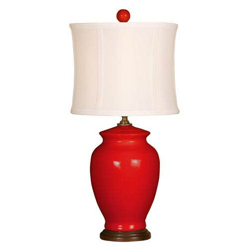 Splash Red One-Light 18-Inch Table Lamp