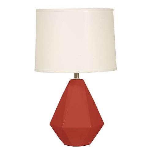 Mario Industries Splash Burgundy One-Light 24.75-Inch Table Lamp