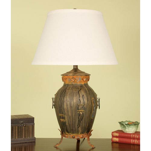 urn table lamp crystal mario industries aged bronze footed urn table lamp with brussels linen shade with