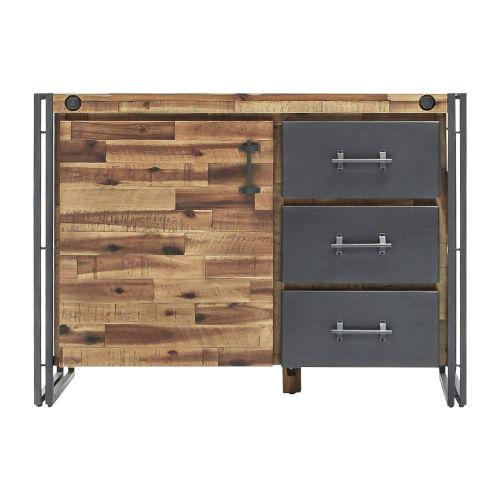 Austen Natural Steel Grey 43-Inch Cabinet