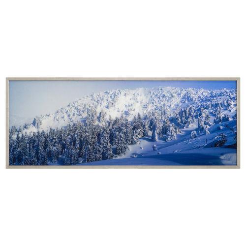 Multicolor Tempered Glass Horizontal Alpine Landscape Wall Decor, 63 W x 1 D x 24 H