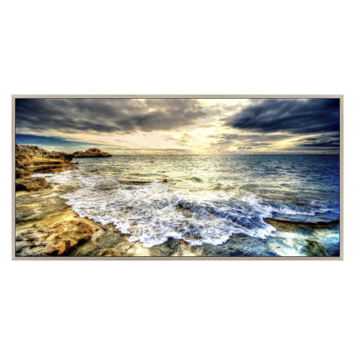 Blue White and Yellow 60-Inch Tidal Motion Landscape