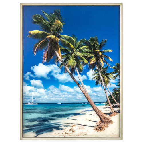 Blue Green and Yellow 30-Inch Isle Retreat Landscape