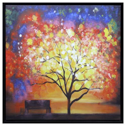 Multicolor 40-Inch Memories Acrylic Painting