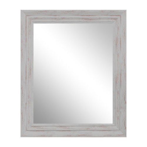 Trace Distressed White 29-Inch Mirror
