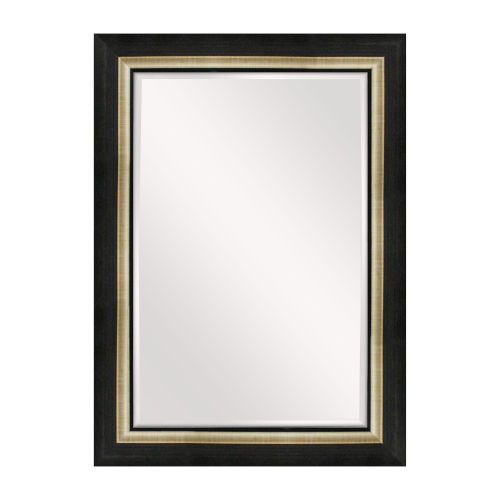 Asriel Brown Black and Gold 32-Inch Mirror
