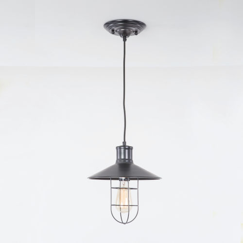 Black 11-Inch One-Light Pendant