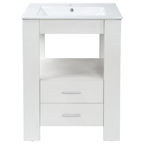 Cinco White 24-Inch Single Vanity