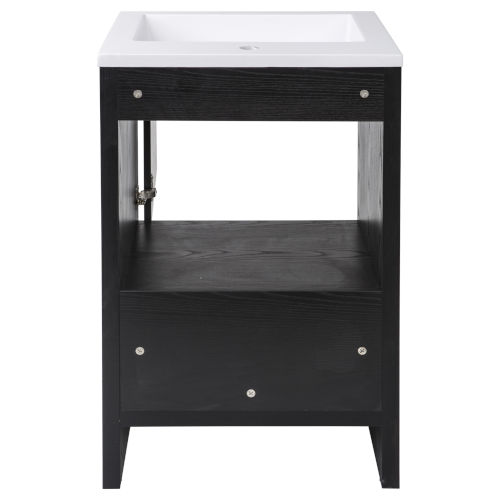 Merce Black and White 20-Inch Single Vanity