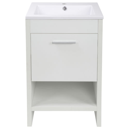 Merce White 20-Inch Single Vanity