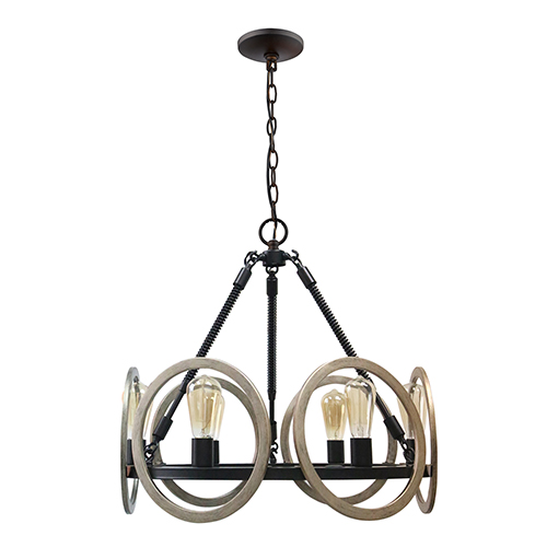 Paradoxial Oil Rubbed Bronze Six-Light Chandelier
