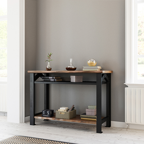 Bethel Park Graphite Grey and Brown Coffee Table