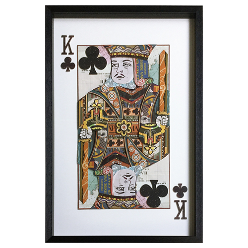 Yosemite Home Decor King of Clubs Framed Wall Art