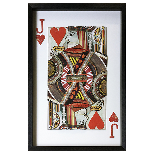 Jack of Hearts Framed Wall Art