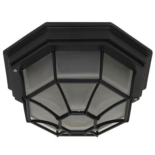 Yosemite Home Decor Exterior Lighting Series Oil Rubbed Bronze Two-Light Flush Mount