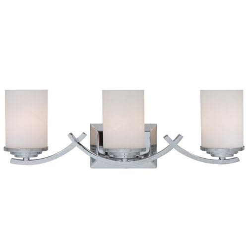 Chrome Three-Light Vanity Light