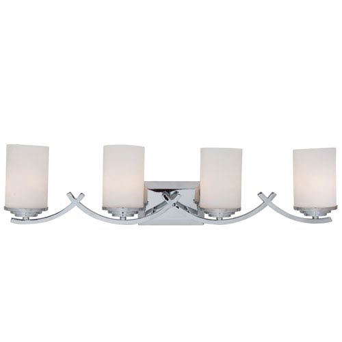 Chrome Four-Light Vanity Light
