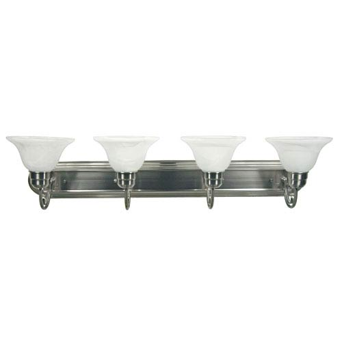 Yosemite Home Decor Satin Nickel Four-Light Vanity Light