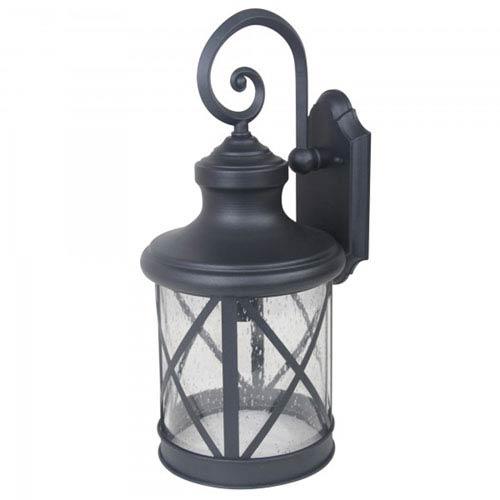 Mahoney One-Light Black Finish Large Exterior Light