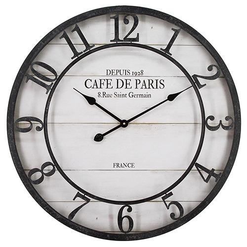 Café De Paris Shiplap Wall Clock