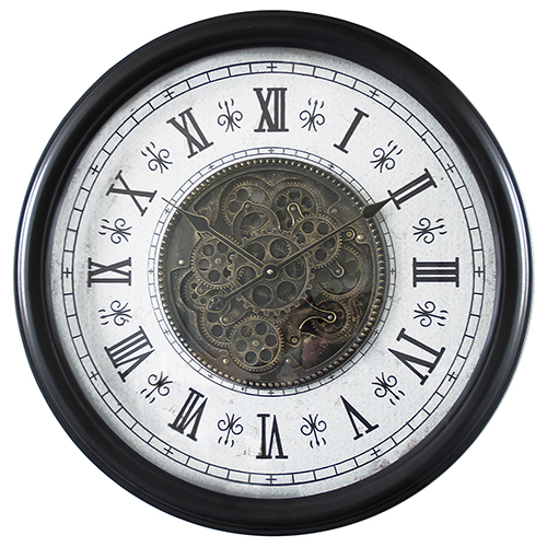 Classic Chic Wall Clock with Gears