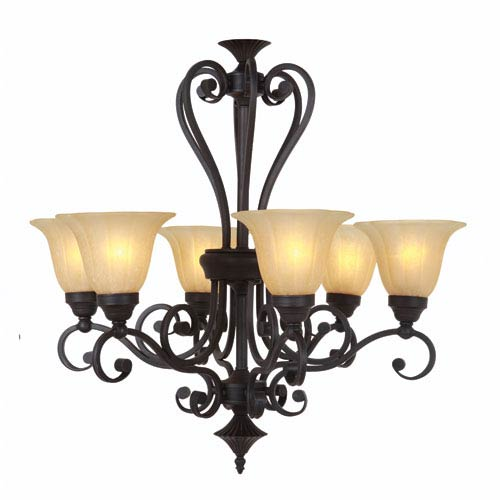 Florence Sierra Slate Six-Light Chandelier