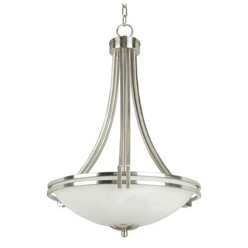 Sequoia Satin Nickel Three-Light Foyer Pendant