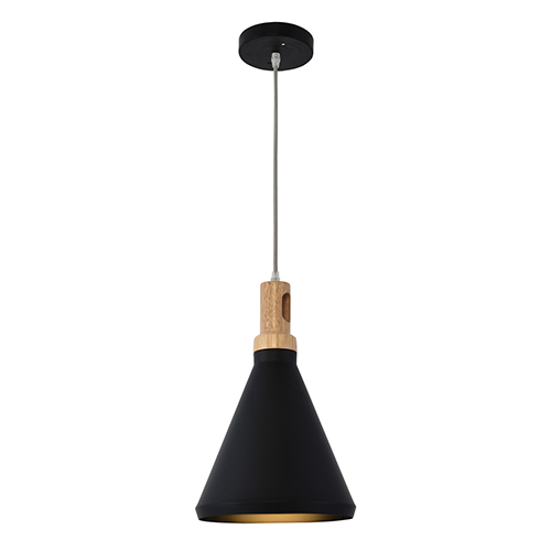 Noir Black One-Light Mini Pendant