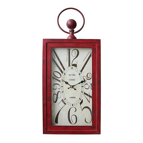 Waverly Red Wall Clock