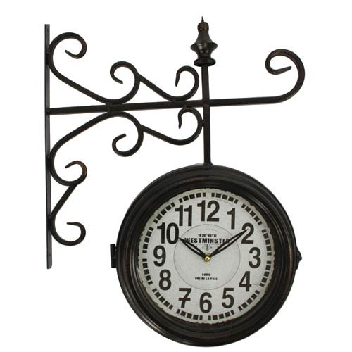 Black and White Double Sided Wall Clock