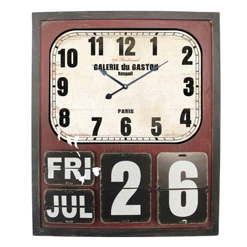 Cherry and White Wall Clock