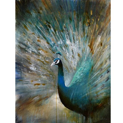 Peacock Prowess: 48 x 36-Inch Wall Art