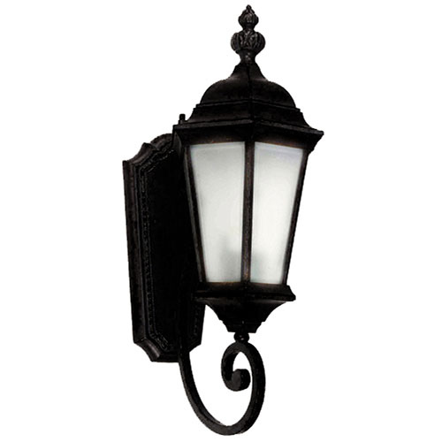 Yosemite Home Decor Brielle Black Exterior Light Wall Mount